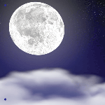 1239 - Full Moon and Clouds Ban