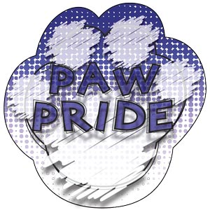 2781 - Dog Tag Blue Paw Pride