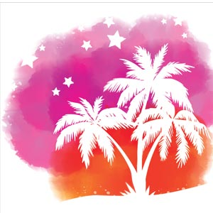 4647 - Watercolor Tropical Palm