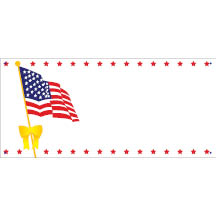 0095 - Flag with Star Border