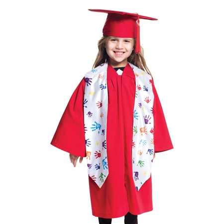 Graduation Stole - Handprints