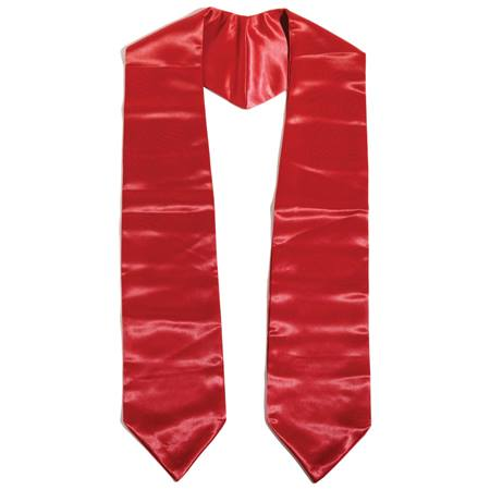 "Kids 52"" Graduation Stole - Red"