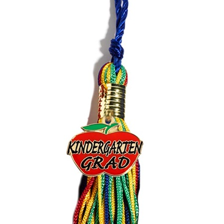 Tassel With Apple Kindergarten Grad Charm