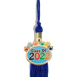 Graduation Tassel With Handprints Charm