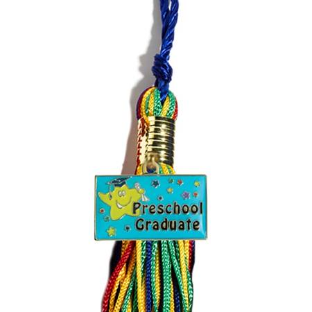 Preschool Grad Star Charm with Tassel Set