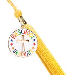 Preschool Graduate Cutout Cross Charm with Tassel Set
