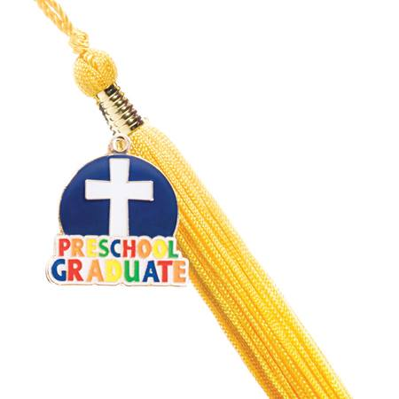 Graduation Tassel with Preschool Graduate/Cross Charm