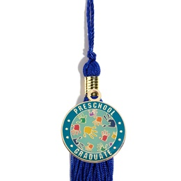 Graduation Tassel With Preschool Graduate Handprints Charm