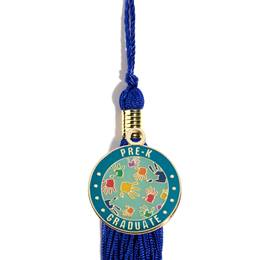 Graduation Tassel With Pre-K Graduate Handprints Charm