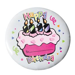 Happy Birthday Button - Cupcake