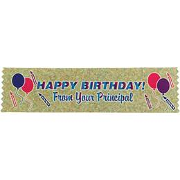 Happy Birthday Principal Award Ribbon