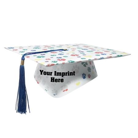 Full-color Custom Graduation Cap-Colorful Paws