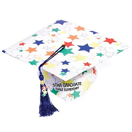 Full Color Grad Cap - Color Craze Stars