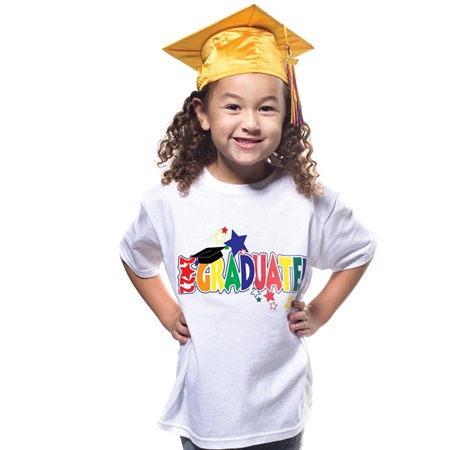 T-Shirt Grad Set with Shiny Cap