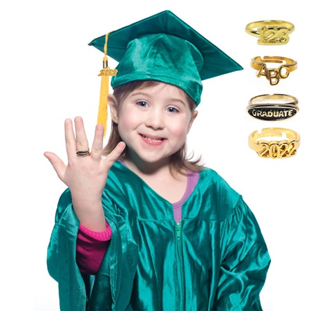 Child's Graduation Ring Set