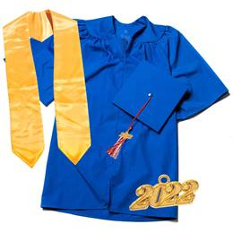 Deluxe Graduation Set With Stole - Matte Finish