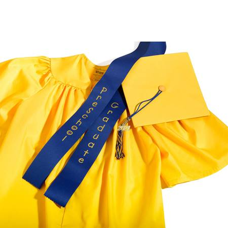 Matte Preschool Graduation Set With Sash