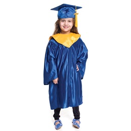 Deluxe Graduation Set With Hood - Shiny Finish