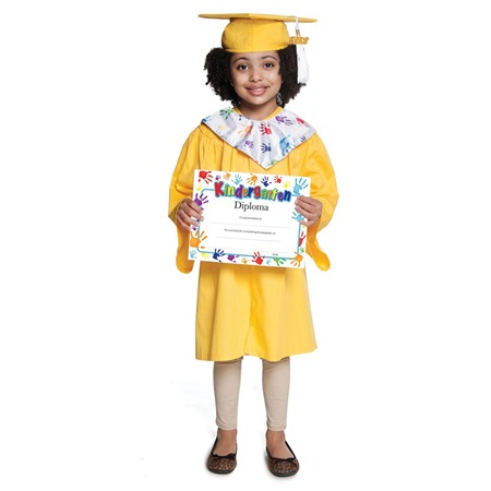 Matte Graduation Set With Handprints Diploma