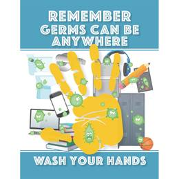 Bathroom Decal - Remember Germs Can Be Anywhere