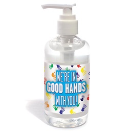 Hand Prints Personal Hand Sanitizer Bottle