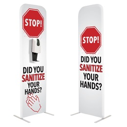 Floor Hand Sanitizing Station - Stop! Did You Sanitize Your Hands?