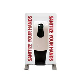 Tabletop Hand Sanitizing Station - Stop! Did You Sanitize Your Hands?