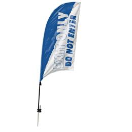 Single-sided Razor Sail Flag Kit - Exit Only