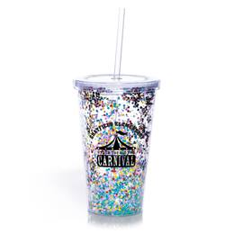 Multi-color Confetti Cup