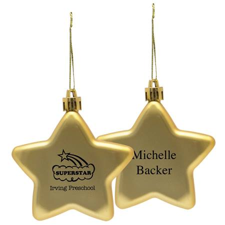 Personalized Shatter-resistant  Ornament - Star
