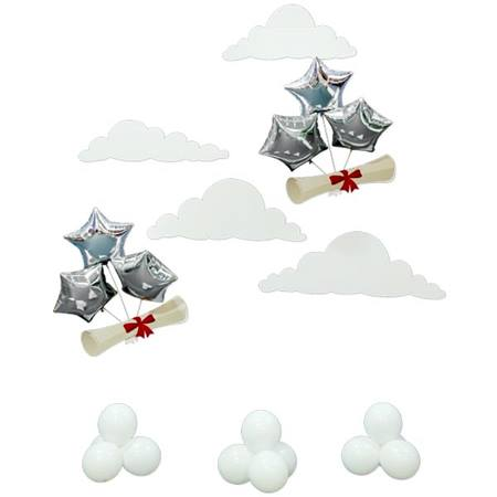 Diplomas, Clouds & Balloon Clusters Kit