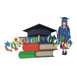 Congrats Grads! Stacked Books Prop Kit