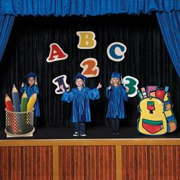 ABC/123 and School Supplies Stage Prop Kit