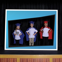 Superhero Frame Graduation Photo Prop Kit