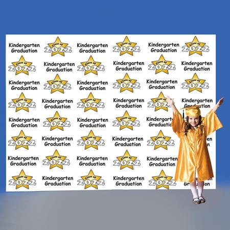 Kindergarten Stars Step and Repeat Wall