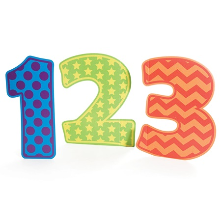 Patterned 123 Numbers Kit
