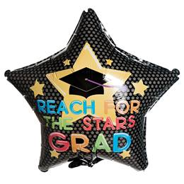 Reach For The Stars Grad Foil Balloon