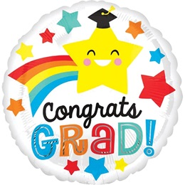 Congrats Grad Shooting Star Foil Balloon