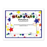 Head Start Diplomas With Crazy Stars Design