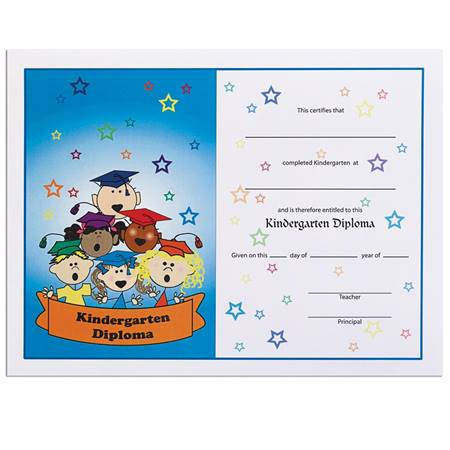 Singing Kids Kindergarten Diploma