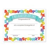 Kindergarten Diplomas With Alphabet Border