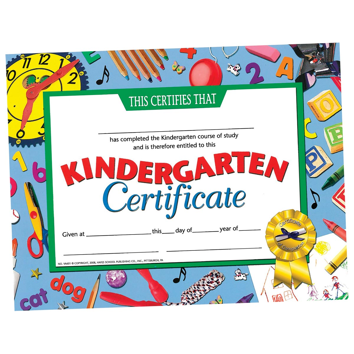 kindergarten certificates clocks border anderson s