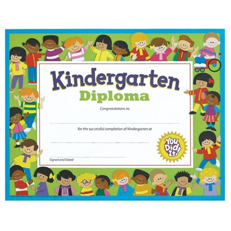 kindergarten diploma with kids andersons