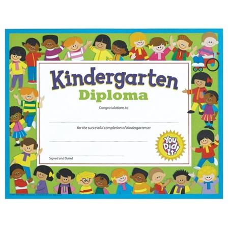 kindergarten diploma with kids anderson s