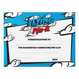 Flying Out of Pre-K Certificates Pack