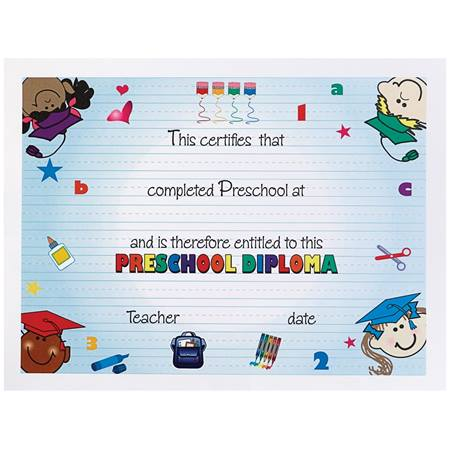 Colorful Kids Preschool Diploma