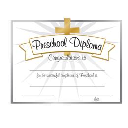 Preschool Gold Cross Diplomas, 30/pkg
