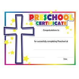 Preschool Colorful Faith Certificates, 30/pkg