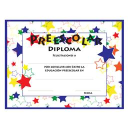 Preescolar Color Craze Diplomas, 30/pkg (SPANISH)