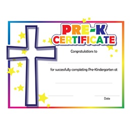 Pre-K Colorful Faith Certificates, 30/pkg